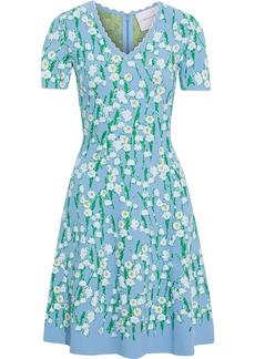 Carolina Herrera Woman Jacquard-knit Dress Light Blue