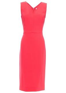 Carolina Herrera Woman Neon Crepe Midi Dress Coral