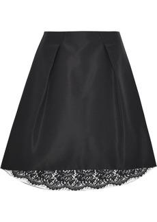Carolina Herrera Woman Pleated Silk-faille Skirt Black