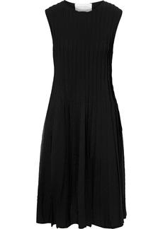 Carolina Herrera Woman Pleated Stretch-knit Dress Black
