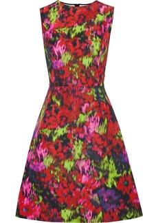 Carolina Herrera Woman Printed Cotton And Silk-blend Faille Dress Multicolor