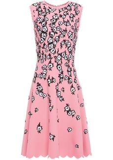 Carolina Herrera Woman Scalloped Floral-jacquard Dress Baby Pink