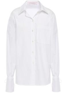 Carolina Herrera Woman Cotton-blend Poplin Shirt White