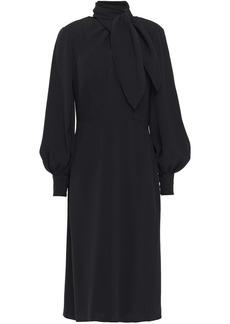 Carolina Herrera Woman Tie-neck Silk-crepe Dress Black