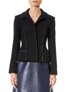 Carolina Herrera Wool-Blend Jacket w/Metallic Piping