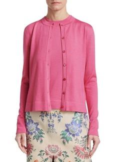 Carolina Herrera Cashmere & Silk Knit Cardigan