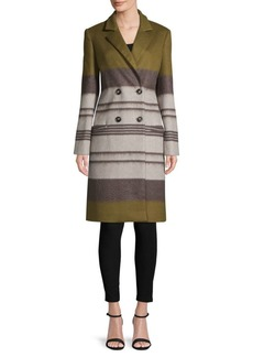 Carolina Herrera Classic Striped Coat