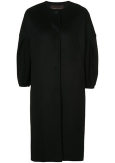 Carolina Herrera cropped sleeve cocoon coat