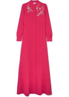 Carolina Herrera Crystal-embellished Silk-georgette Gown