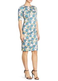 Carolina Herrera Daisy Sheath Dress