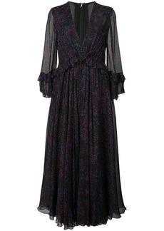 Carolina Herrera deep v-neck printed dress