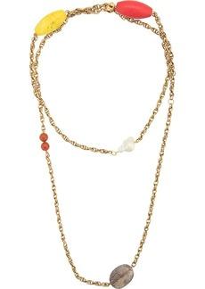 Carolina Herrera double chain necklace