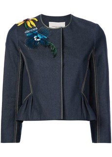 Carolina Herrera embellished denim jacket