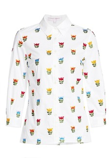 Carolina Herrera Embroidered Floral Shirt