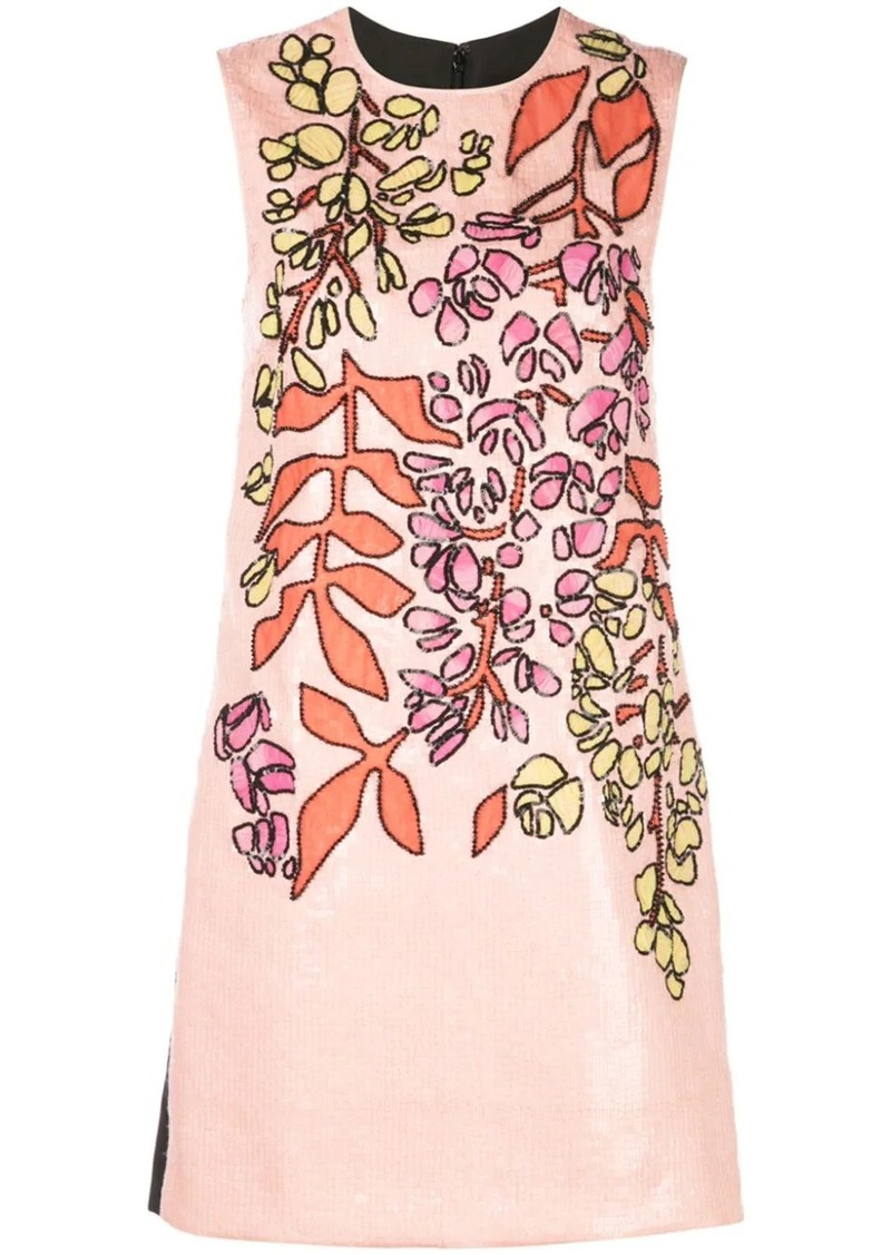 Carolina Herrera embroidered shift dress