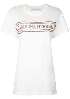 Carolina Herrera embroidered vintage logo T-shirt