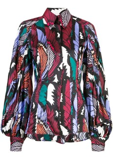 Carolina Herrera feather print shirt