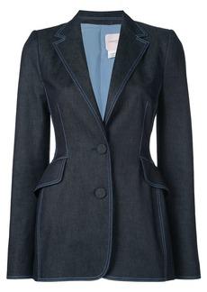 Carolina Herrera fitted denim blazer