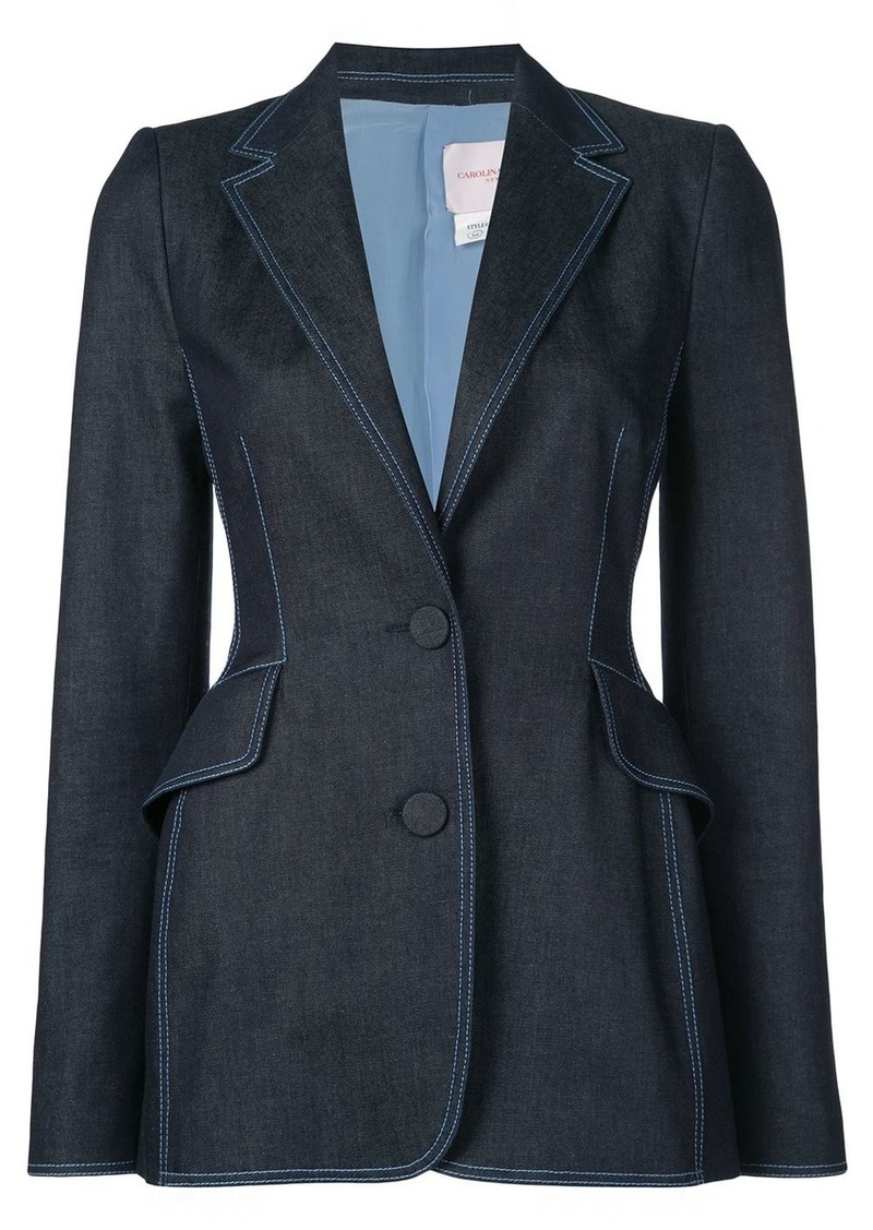 Carolina Herrera fitted denim blazer