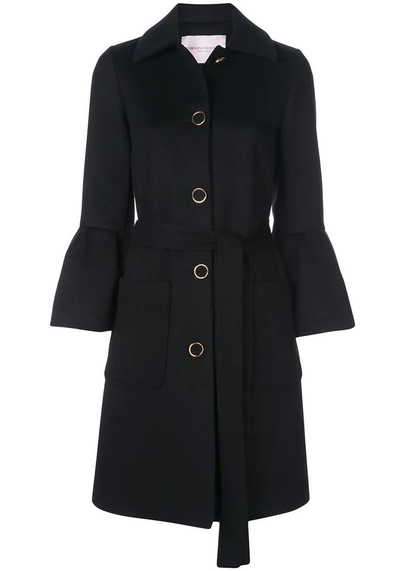 Carolina Herrera flared sleeve belted coat