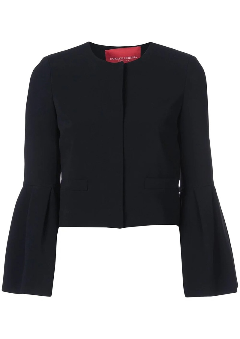 Carolina Herrera flared-sleeve fitted jacket