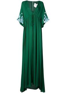 Carolina Herrera floral applique maxi dress