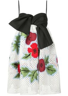 Carolina Herrera floral appliqués mini dress