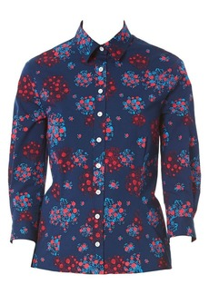 Carolina Herrera Floral Button-Down Shirt