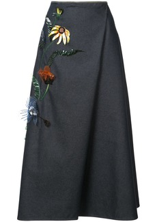 Carolina Herrera floral embellished skirt
