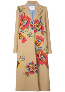 Carolina Herrera floral-embroidered coat