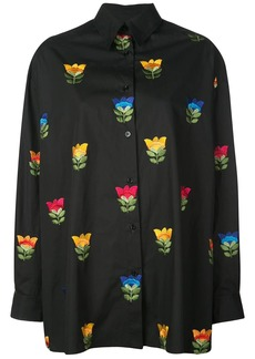 Carolina Herrera floral embroidered shirt