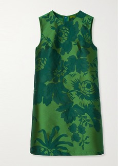Carolina Herrera Floral-jacquard Mini Dress