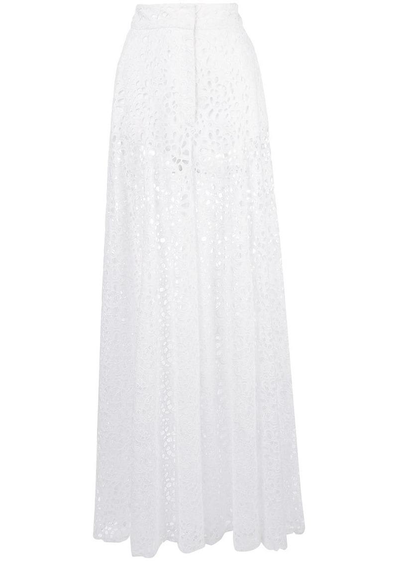 Carolina Herrera floral lace palazzo trousers
