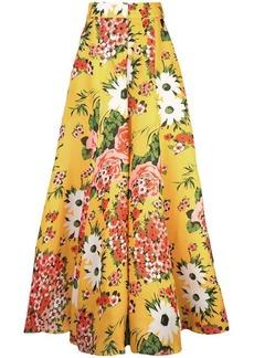 Carolina Herrera floral print flared trousers