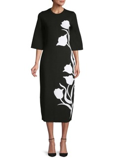 Carolina Herrera Floral-Print Midi Dress
