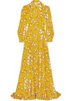 Carolina Herrera Floral-print Satin-twill Gown