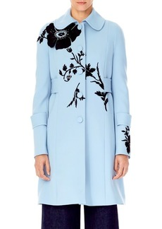 Carolina Herrera Threadwork Embellished Wool Jacket