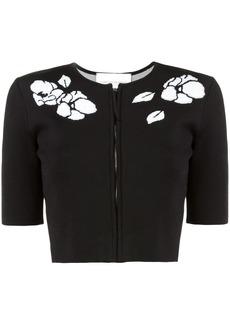 Carolina Herrera floral zipped cardigan