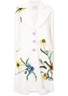 Carolina Herrera flower detail single-breasted coat