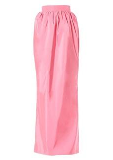 Carolina Herrera Gathered Silk Maxi Skirt