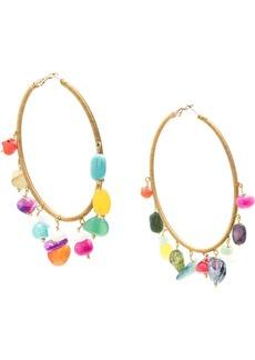 Carolina Herrera gemstones hoop earrings