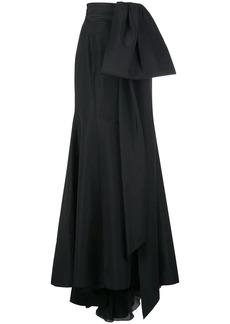 Carolina Herrera half-bow fishtail maxi-skirt
