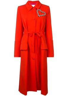 Carolina Herrera heart embellished coat