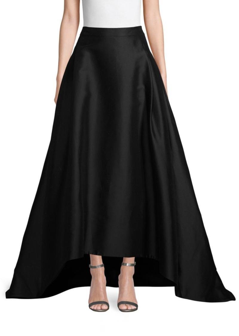 Carolina Herrera High-Low Cotton & Silk-Blend Skirt