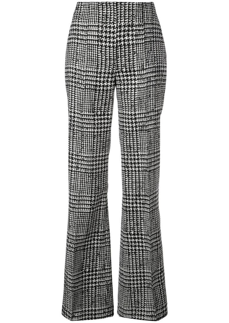 Carolina Herrera high-waisted houndstooth trousers