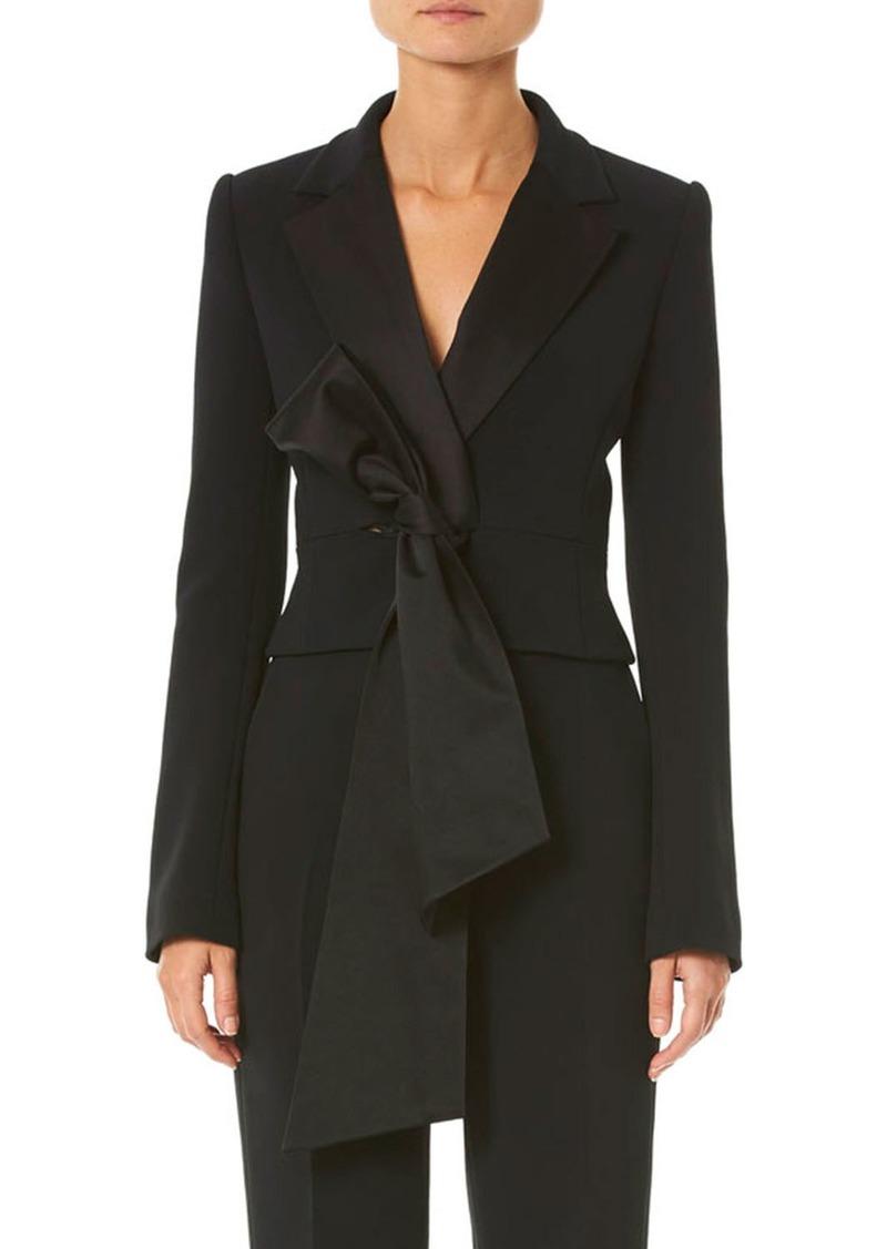 Carolina Herrera Knotted-Front Cropped Blazer Jacket