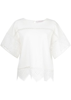 Carolina Herrera lace inserts T-shirt