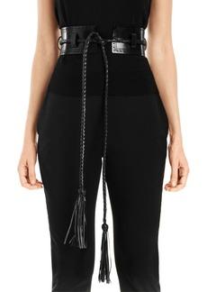 Carolina Herrera Leather Corset Belt