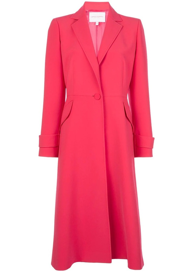 Carolina Herrera long single breasted coat