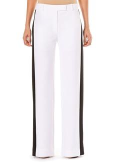 Carolina Herrera Low-Rise Wide-Leg Pants w/ Contrast Side Stripe